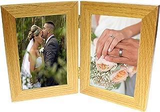 oak multi aperture photo frame
