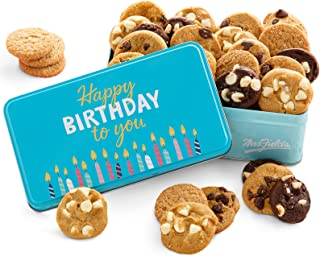 Mrs. Fields Cookies Happy Birthday 30 Nibblers Tin (30 Count) - Includes 5 Different Flavors - Perfect Birthday Gift