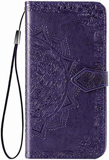 TingYR Case for Samsung Galaxy A52s 5G Cover, Cover Flip Case Stylish Wallet Case with Card Slots Shockproof, Case for Samsung Galaxy A52s 5G Smartphone.(Purple)