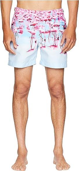 6e8cfebba0 Bulldog Photographic Flamingos Swim Shorts. Orlebar Brown