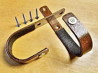 VERDICT BRACKETS - Rustic Gun Racks (30-30) Horizontal Rifle Hangers - Solid Steel - Felt Lined Hooks