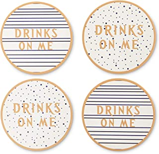 Absorbent Ceramic Coaster Set - Coffee/Cup/Mug/Glass/Bottle/Kitchen/Coasters - Drink Holder - House Warming Gift - Ceramic Coasters - Absorbing - Cork Bottom - Moisture Absorbent - Table Protecter