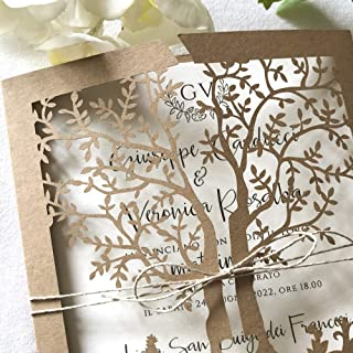 CAMPIONE DELLA PARTECIPAZIONE matrimonio Albero della vita, fai da te rustiche shabby chic SET anniversario, DIY carta kra...