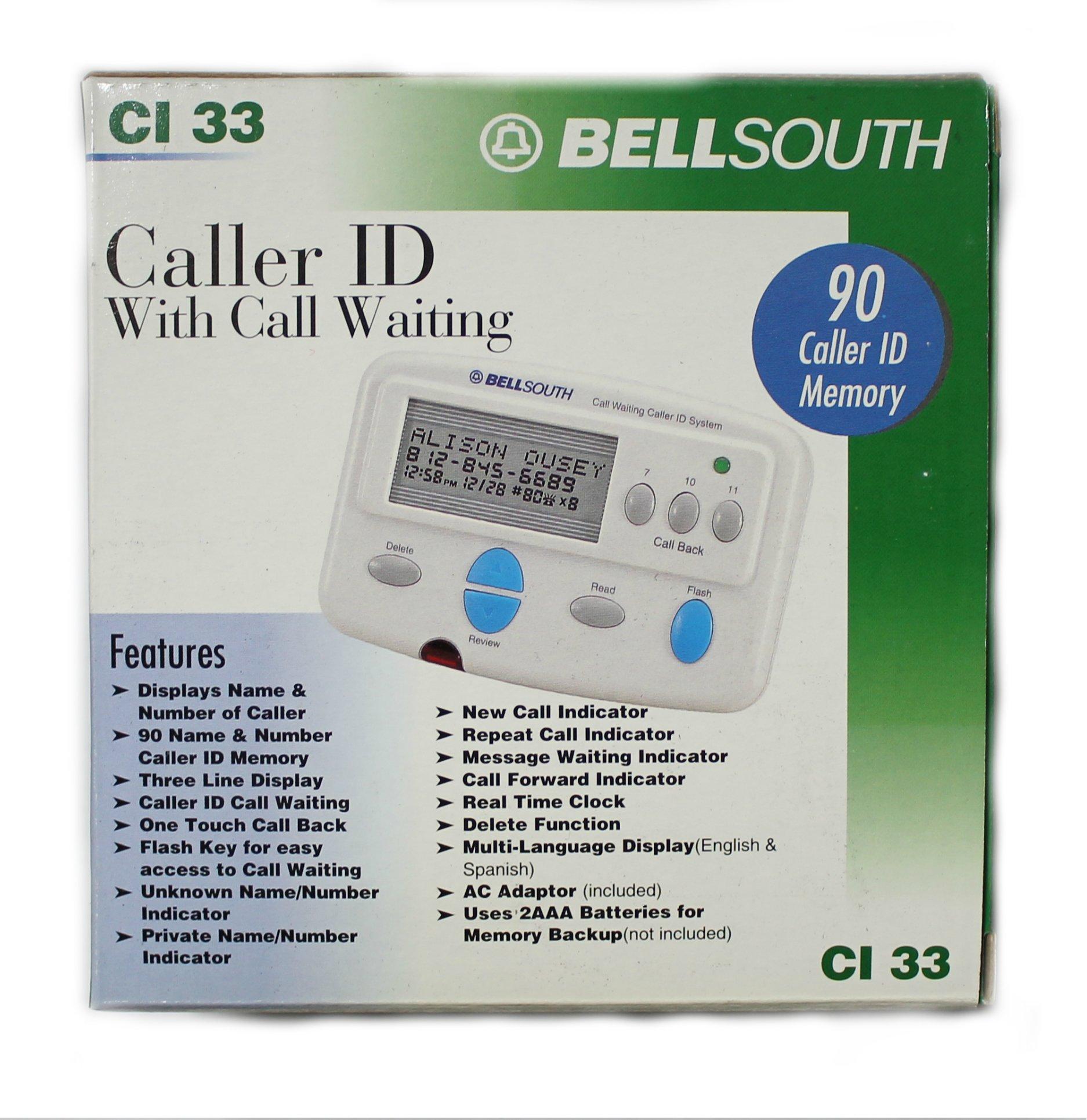 BELL SOUTH CI33 Adjunct Caller