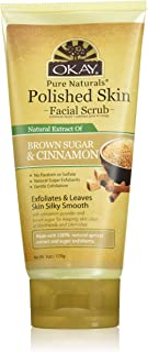 OKAY | Brown Sugar & Cinnamon Facial Scrub | Gentle Exfoliant | Refreshing | With 100% Natural Apricot Extract | Free of A...