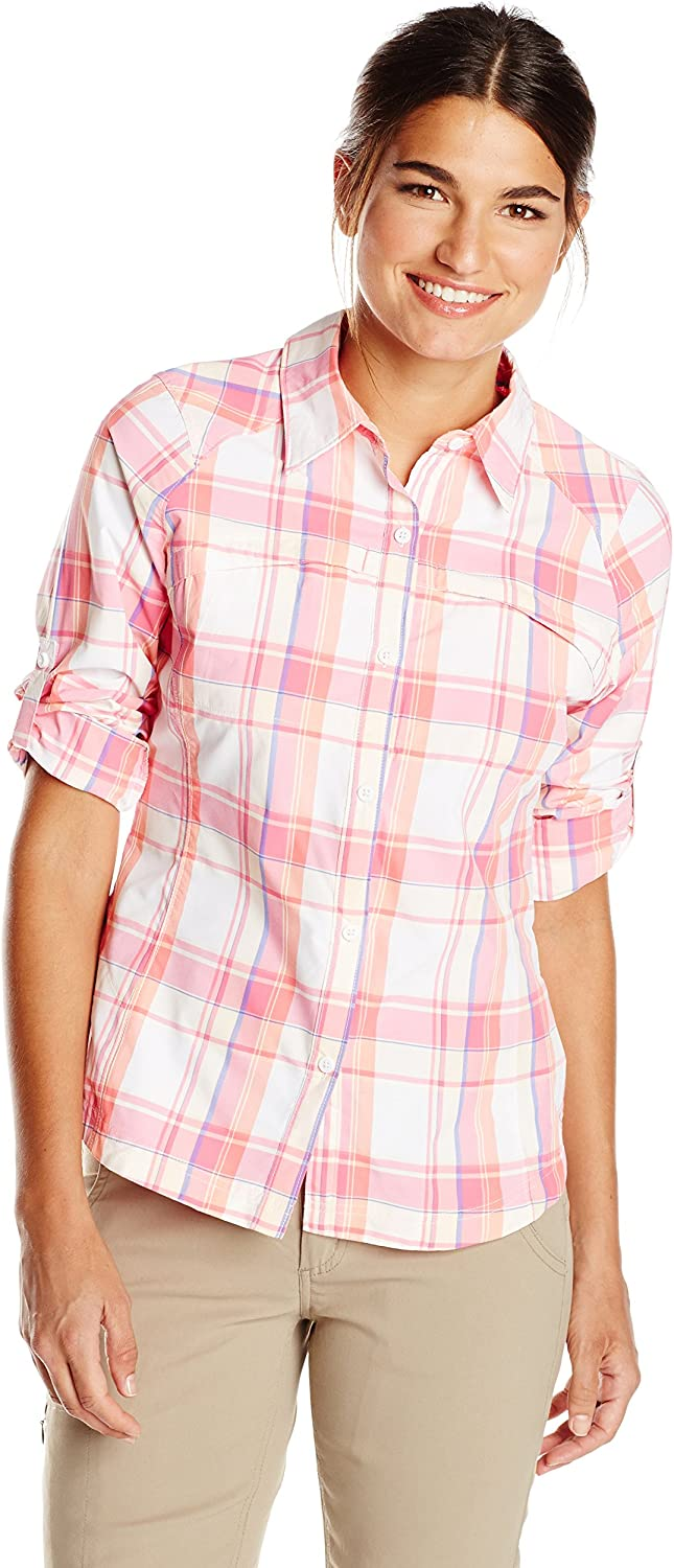 Columbia Sportswear Womens Silver Ridge Plaid Long Sleeve Shirt