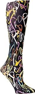 Celeste Stein Therapeutic Compression Socks, Black Luvy, 8-15 Mmhg, Mild