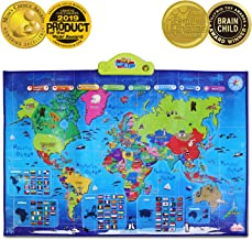BEST LEARNING i-Poster My World Interactive Map – Educational Talking Toy for Kids..
