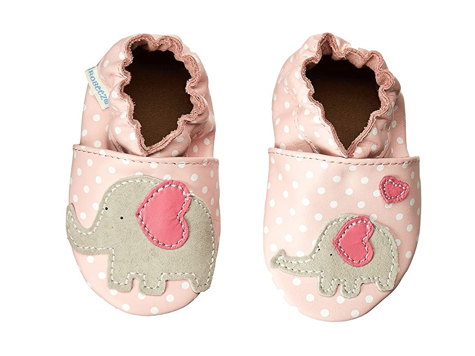 Robeez Little Peanut Soft Soles (Infant/Toddler) (Pastel Pink) Girls Shoes