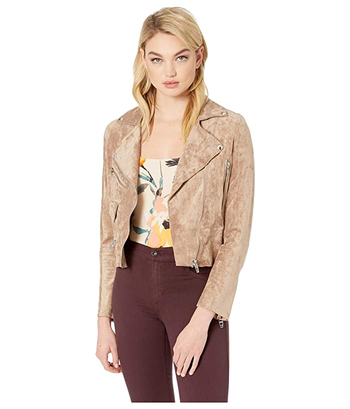 Blank NYC Faux Suede Beige Moto Jacket in Brick Wall (Brick Wall) Women
