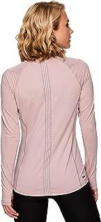 Active Women's Long Sleeve Ventilated Mesh Lightweight Running Workout Crewneck T-Shirt