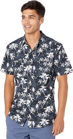 Short Sleeve Snap Hawaiian Print B1S9412
