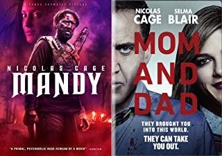 Let The Mad Man Out Nic Cage: Mandy + Mom And Dad 2 DVD Bundle Horror Action Madness