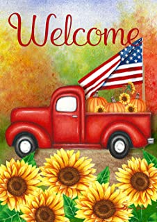 Toland Home Garden 1012207 Welcome Harvest Truck 28 x 40 Inch Decorative, House Flag (28