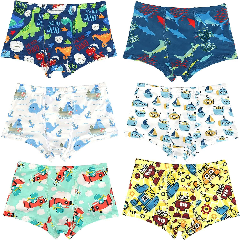 Zreey New Boys Briefs Soft Dinosaur airplane Octopus Whale Truck Print Toddler Underwear