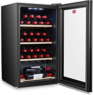 Hoover 150 Liters, 30 Bottles Free standing Wine cooler, Black - HWC30B-X, 1 Year Warranty