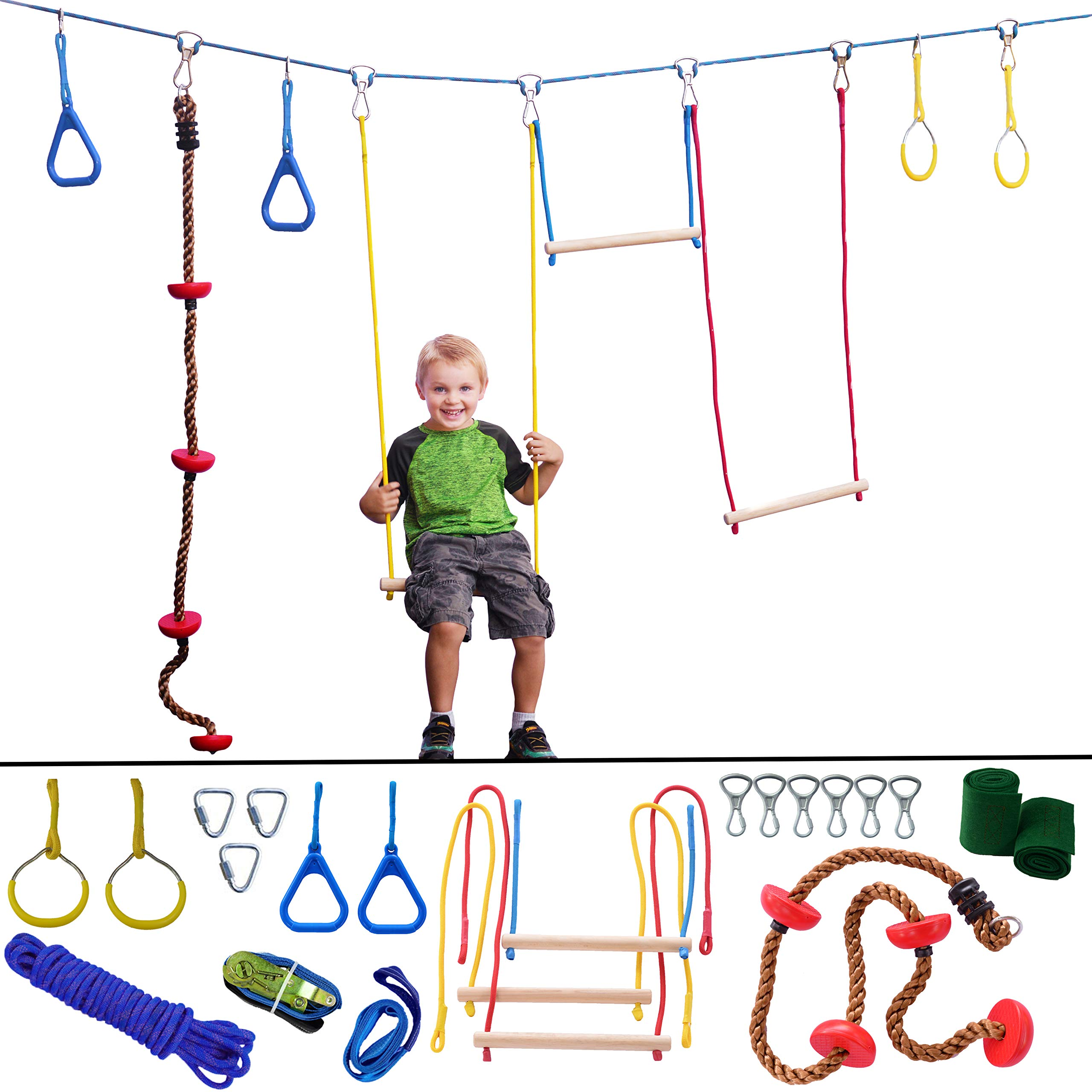 Ninja Hanging Obstacle Course Playground