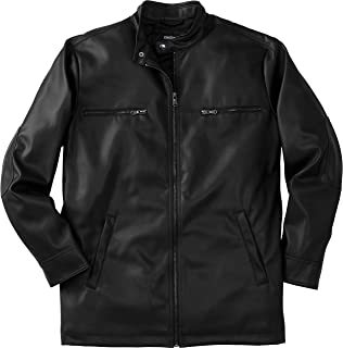 Men's Big & Tall Faux Leather Moto Jacket