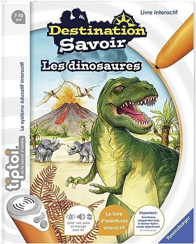 Ravensburger - Livre d'aventure interactif tiptoi - Destination savoir Les dinosaures - Jeux électroniques éducatifs ...