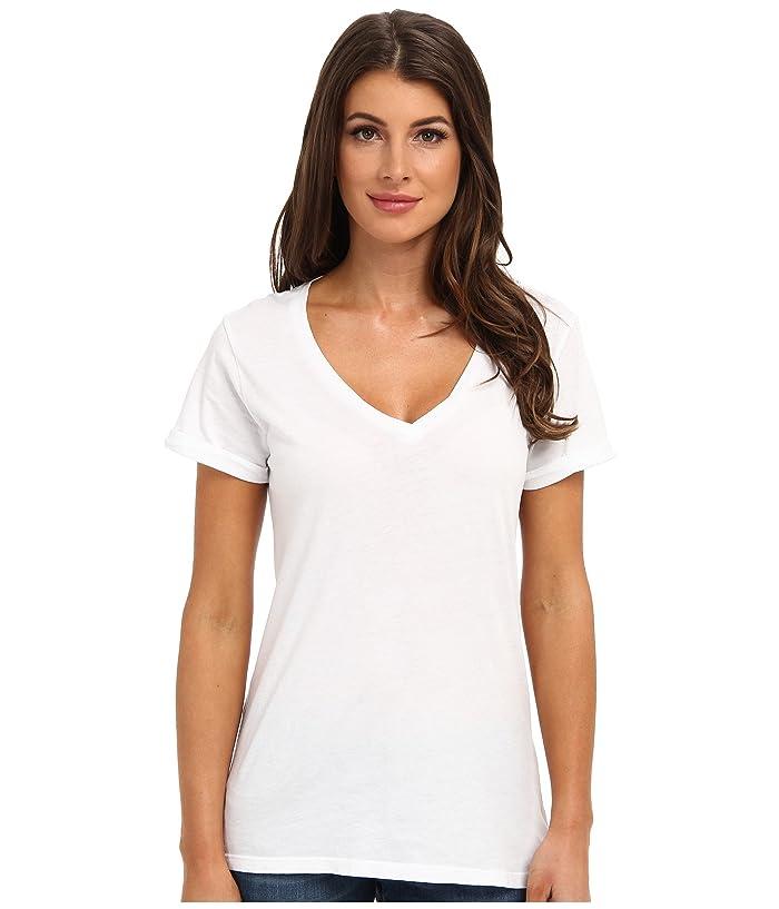 LAmade Staple V S/S Tee (White) Women's T Shirt