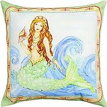 Manual Woodworker and Weavers Mermaid Pillow