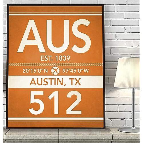 Austin Texas Subway Map.Vintage Austin Texas Posters Amazon Com