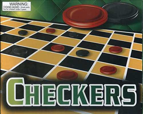 Checkers Classic Board Game with Board & Instructions