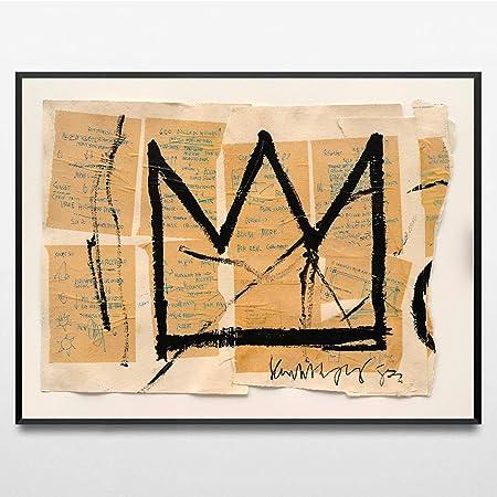 CANVAS WALL ART Framed Print BANKSY Basquiat Graffiti Various Sizes