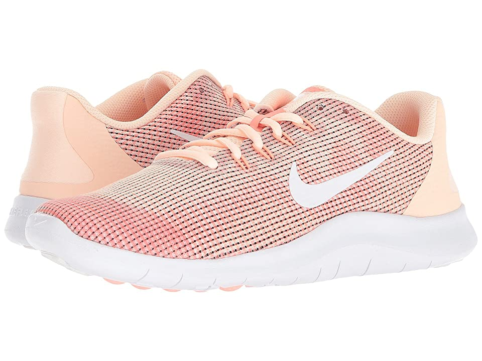 Nike Kids Flex Run 2018 (Big Kid) (Crimson Tint/White/Crimson Pulse) Girls Shoes