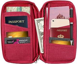 CHESHTA Travel Passport Wallet Case Cover Bag - Storage Case Organizer - Sports-Gym-Outdoor - Money-Credit & Debit Cards C...
