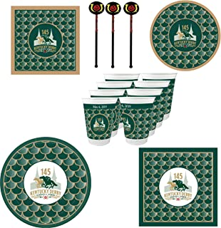 Westrick 145th (2019) Kentucky Derby Party Supplies 132 Pieces