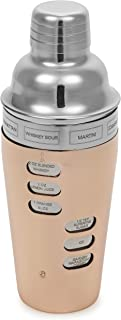 Homiu Cocktail Shaker Copper 23.7 Ounces or 700 Millilitres Double Wall with 8 Recipes
