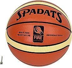 MODELA バスケットボール 空気針付き 人工皮革 インドア&アウトドア用 バスケ (7号 オレンジ×白ライン(中学生以上の男子))