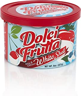Dolci Frutta Rich & Creamy White Chocolate Shell, Simply Microwave, Dip, and Done, Nut-Free, Gluten-Free, 8oz, Pack of 6