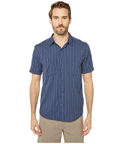 Royal Robbins Vista Dry Short Sleeve Shirt (Deep Blue) Men