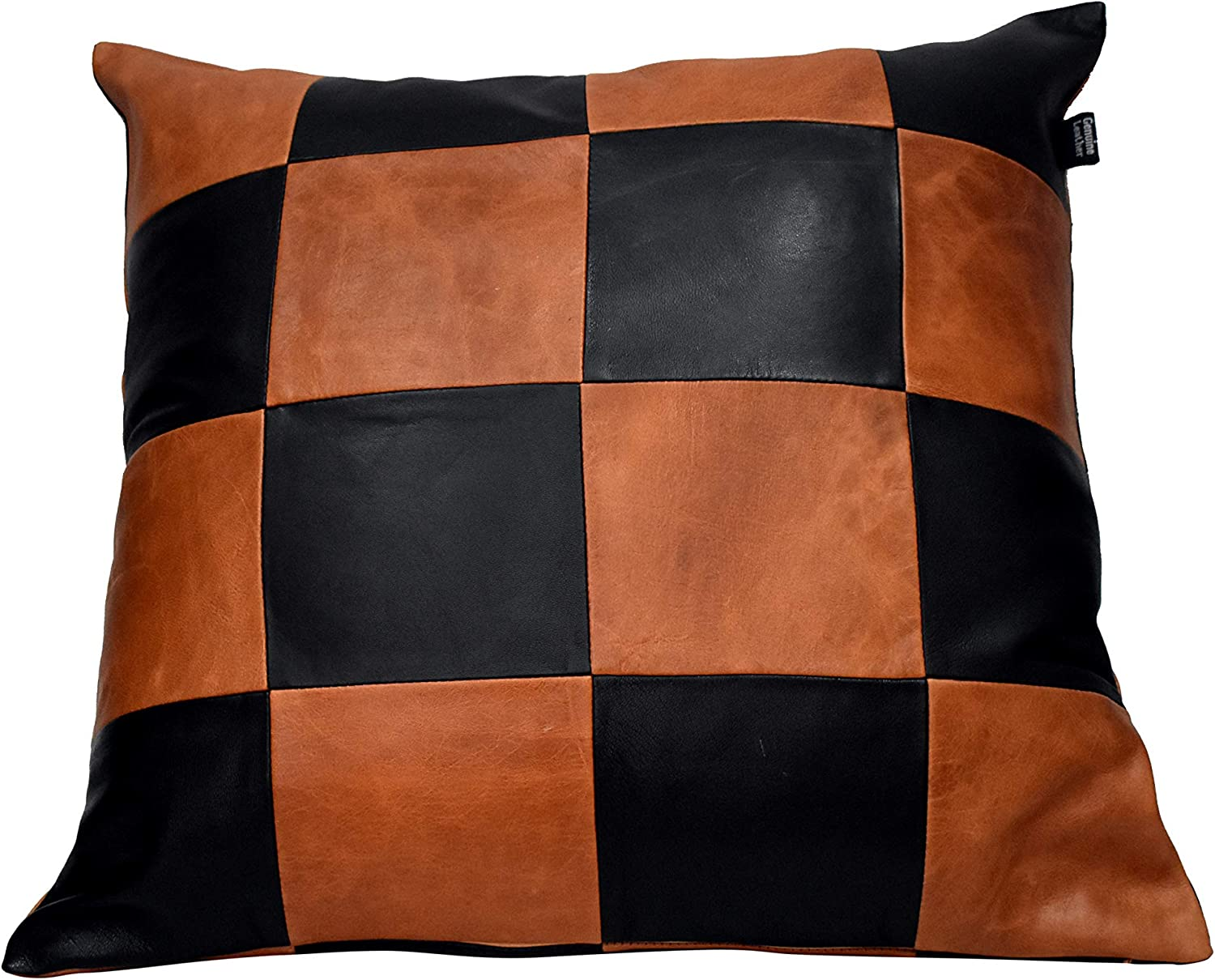 LL LEATHER unisex LOVERS 100% Lambskin Leather Sofa - Cush Cover 35% OFF Pillow