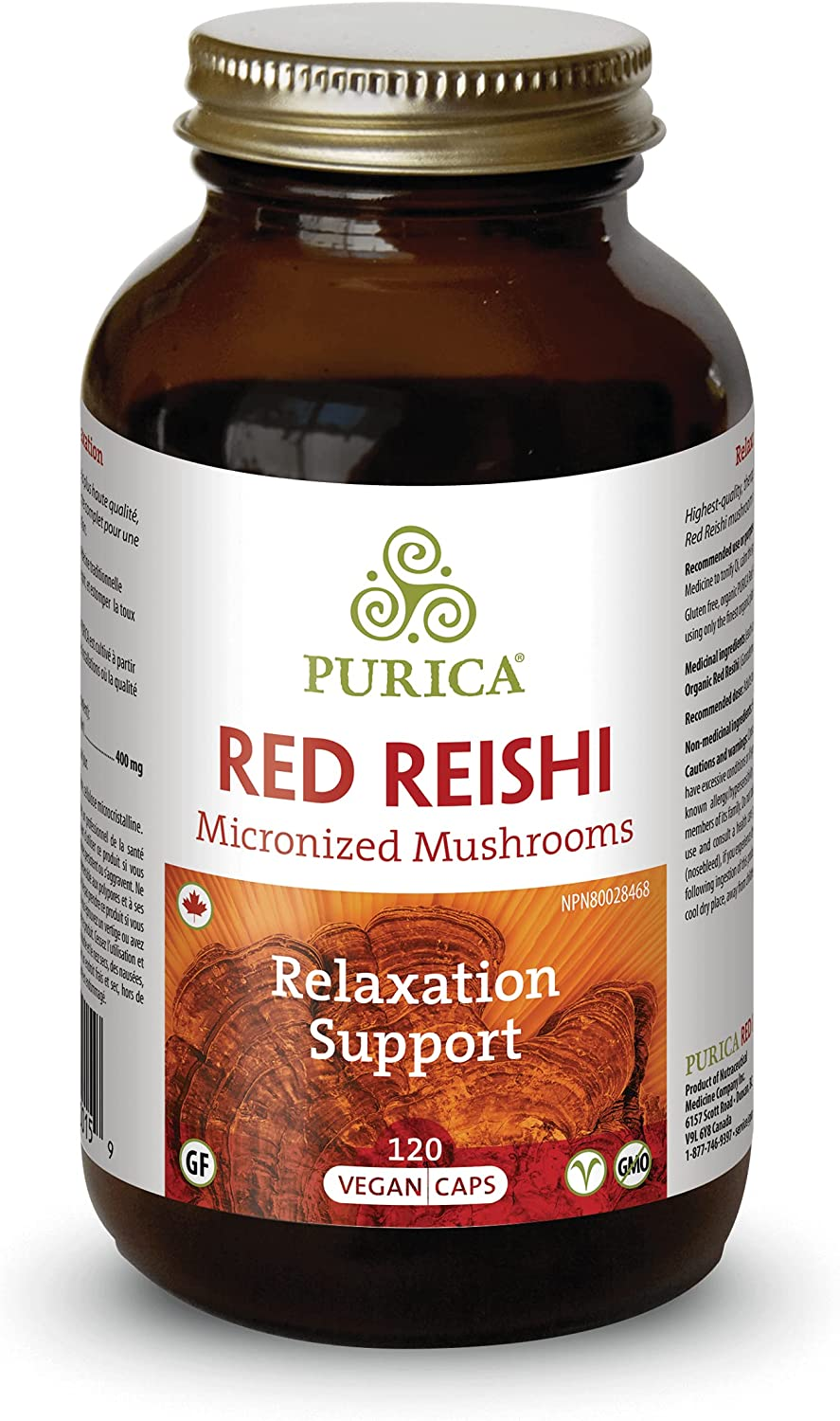 New sales Purica Red Reishi 120 Branded goods Vcaps