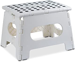 Folding Step Stool – The Lightweight Step Stool is Sturdy Enough to Support Adults..