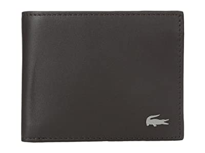 Lacoste FG Small Billfold ID Slot (Dark Brown) Bill-fold Wallet