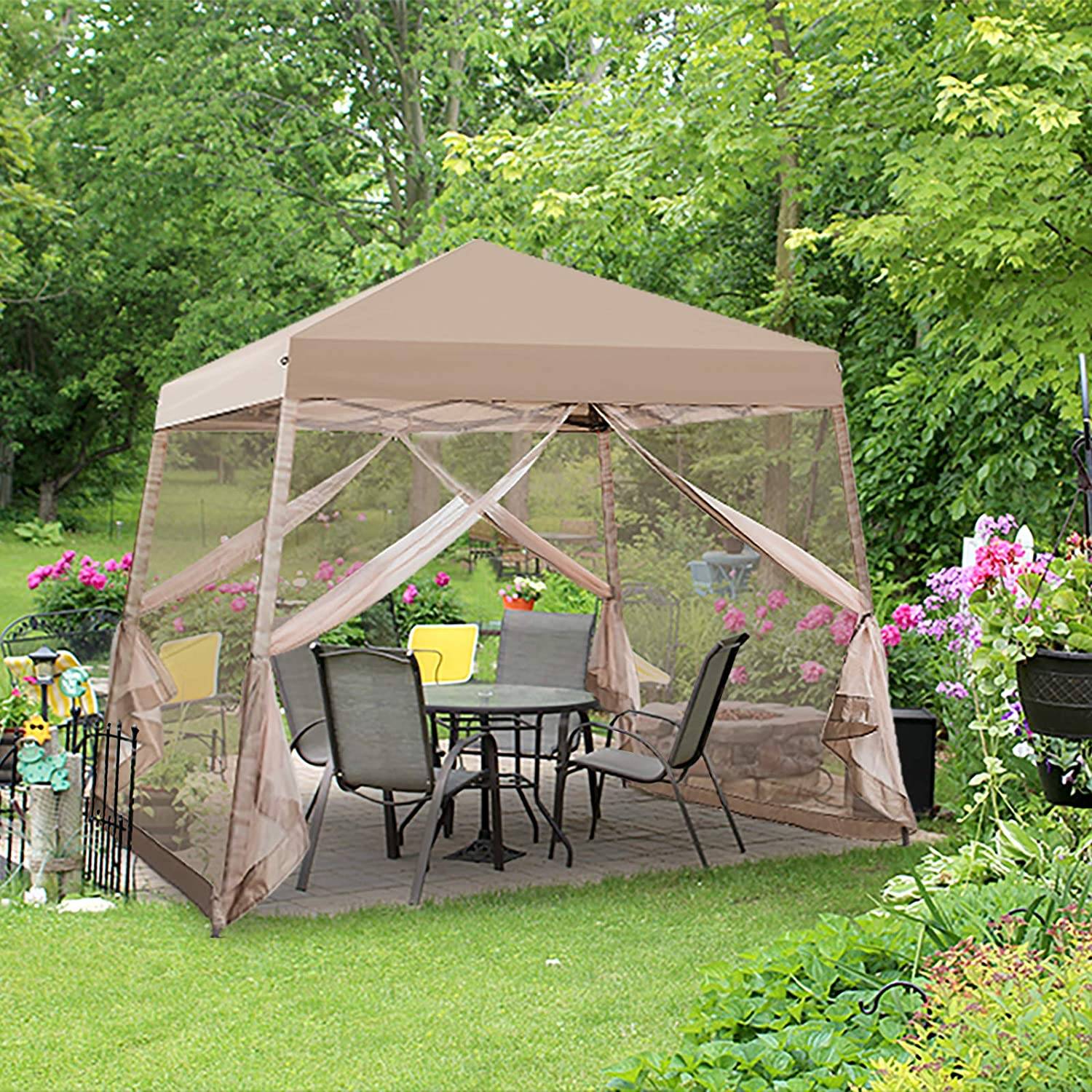 EAGLE PEAK 10' x Slant Leg Easy Up Canopy Sales of SALE items from new works Pop Setup Virginia Beach Mall Tent wit