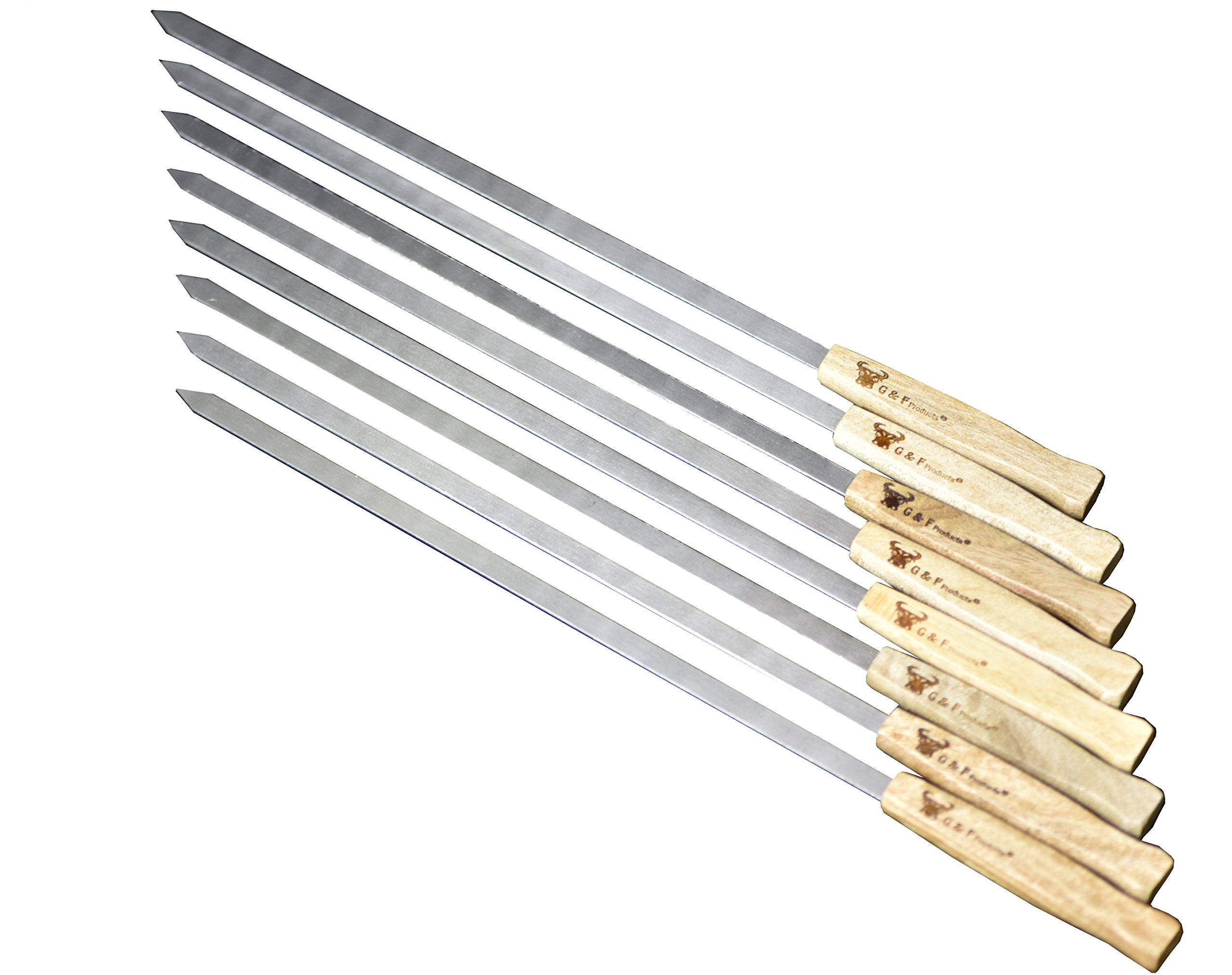 17 Inch Stainless Brazilian Style Skewers Handle