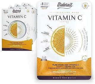 Ardaraz - Anti-rimpel vochtinbrengend gezichtsmasker - met concentraat van Vitamine C Serum - Gelaatsmaskers 5-pack