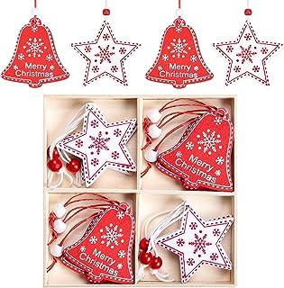 MELLIEX 12 Pièces Ornement de Noël à Suspendre, Pendentif de Décorations Suspendues d'arbre de Noël, Embellissement d'Arti...