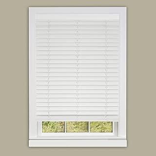 Achim Home Furnishings Madera Falsa 2-Inch Slat Faux Wood Plantation Blind, 27 by 64-Inch, White