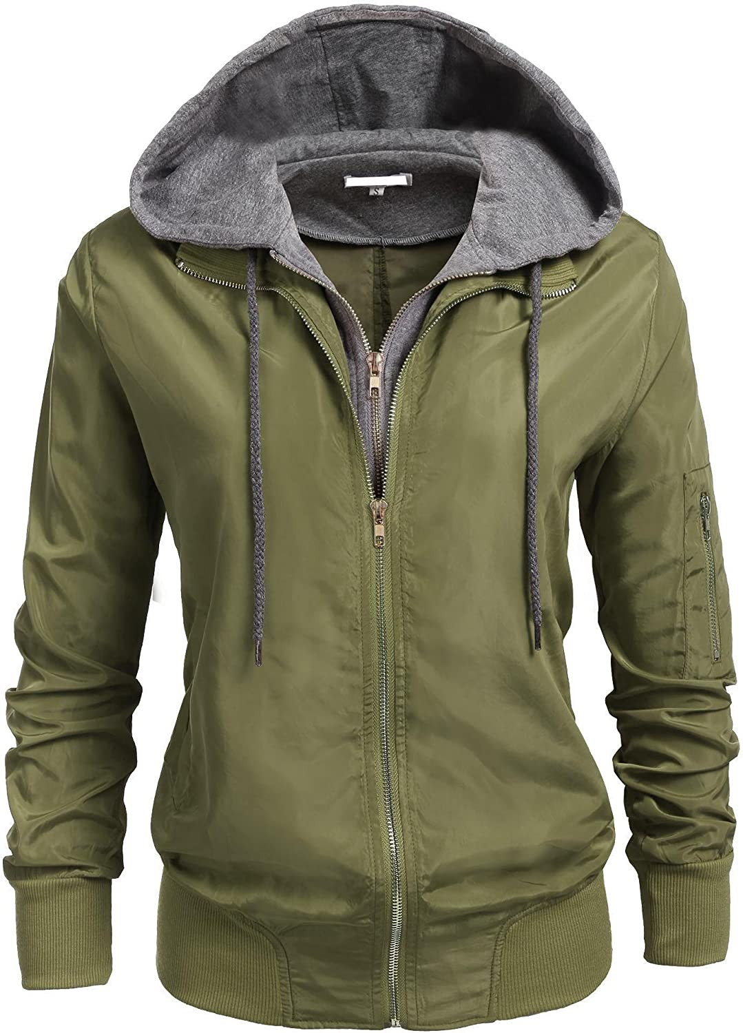 Zeagoo Womens Relaxed Fit Zip Up Hoodie Jacket SXXL