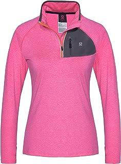 Women's Long Sleeve Running Top Half Zip Pullover Quick Dry