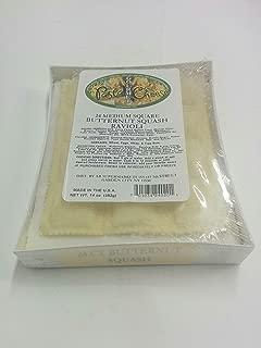 PastaCheese Fresh Medium Square Butternut Squash Ravioli, 14 Ounce (Pack of 4)