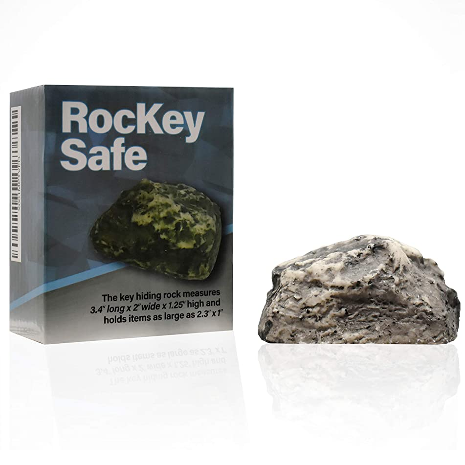 Hide A Key in Plain Sight in a Real Looking Rock/Stone, Holds Standard Sized Spare Keys