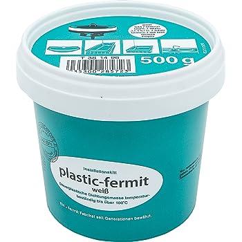 Fermit – Bote de pasta color blanco, útil plástica para juntas (Masa, resistente a más de 100 °C (500g lata): Amazon.es: Bricolaje y herramientas
