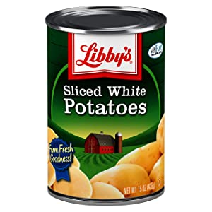 Libby's Sliced White Potatoes   Delicious Mildly Sweet Flavor and Pleasant White Color   Non-GMO   15 ounce can (Pack of 12)